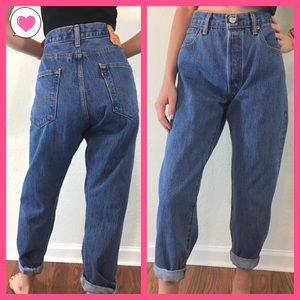 Levi's 501 button fly high waisted mom jeans 33